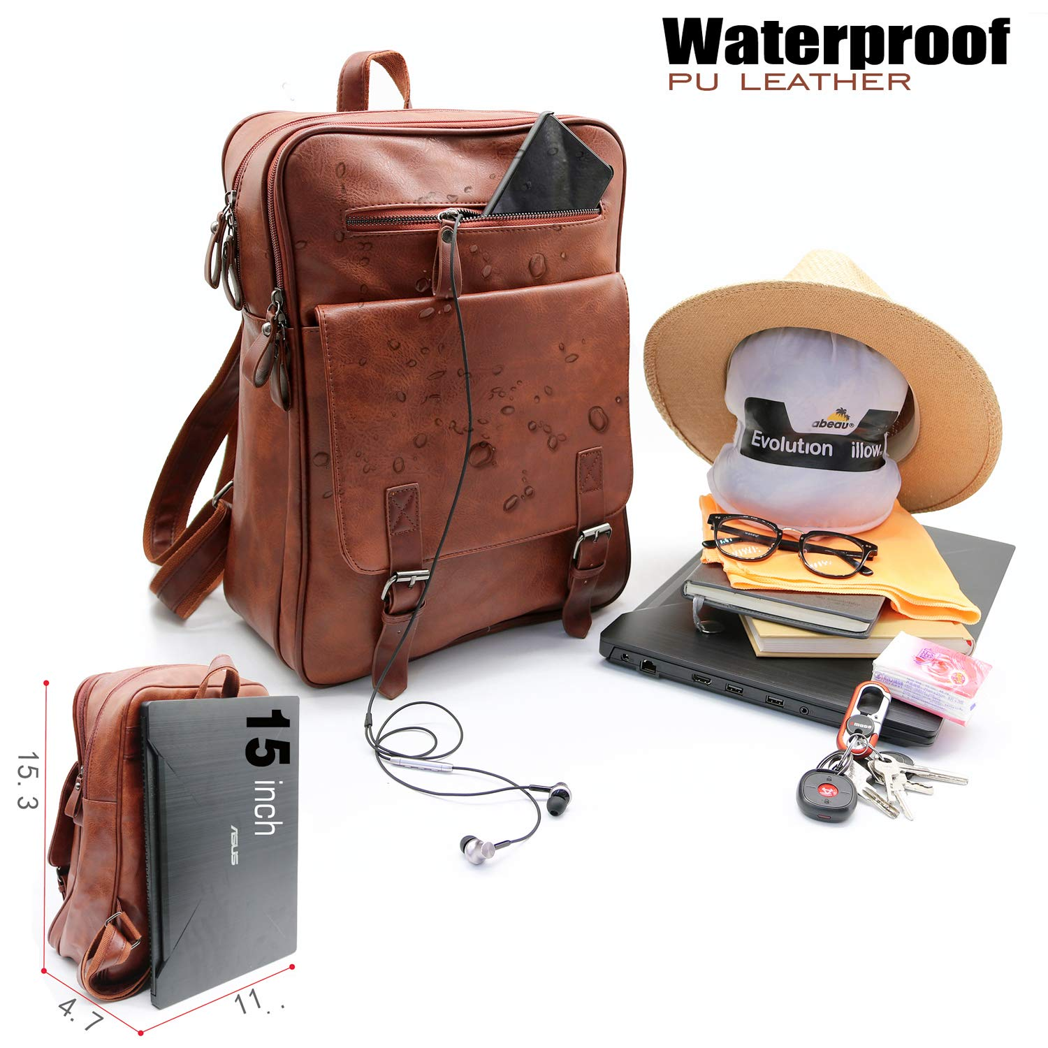 Women's Bags Womens Bag Lady Multifunction Backpack Pu Leather Shoulder Bags Casual Daypack Bookbag Travel Rucksack Diversified Latest Designs