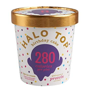 Halo Top Light Ice Cream Birthday Cake 16 Oz Frozen Amazon