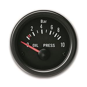 JOM 21114V Manomètre, pression d'huile, noir, Ø52mm