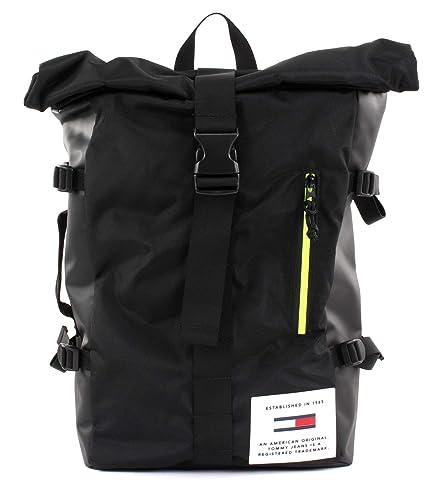 4361cea8 Tommy Hilfiger TJM Cool Tech Roll Backpack Black: Amazon.de: Schuhe ...