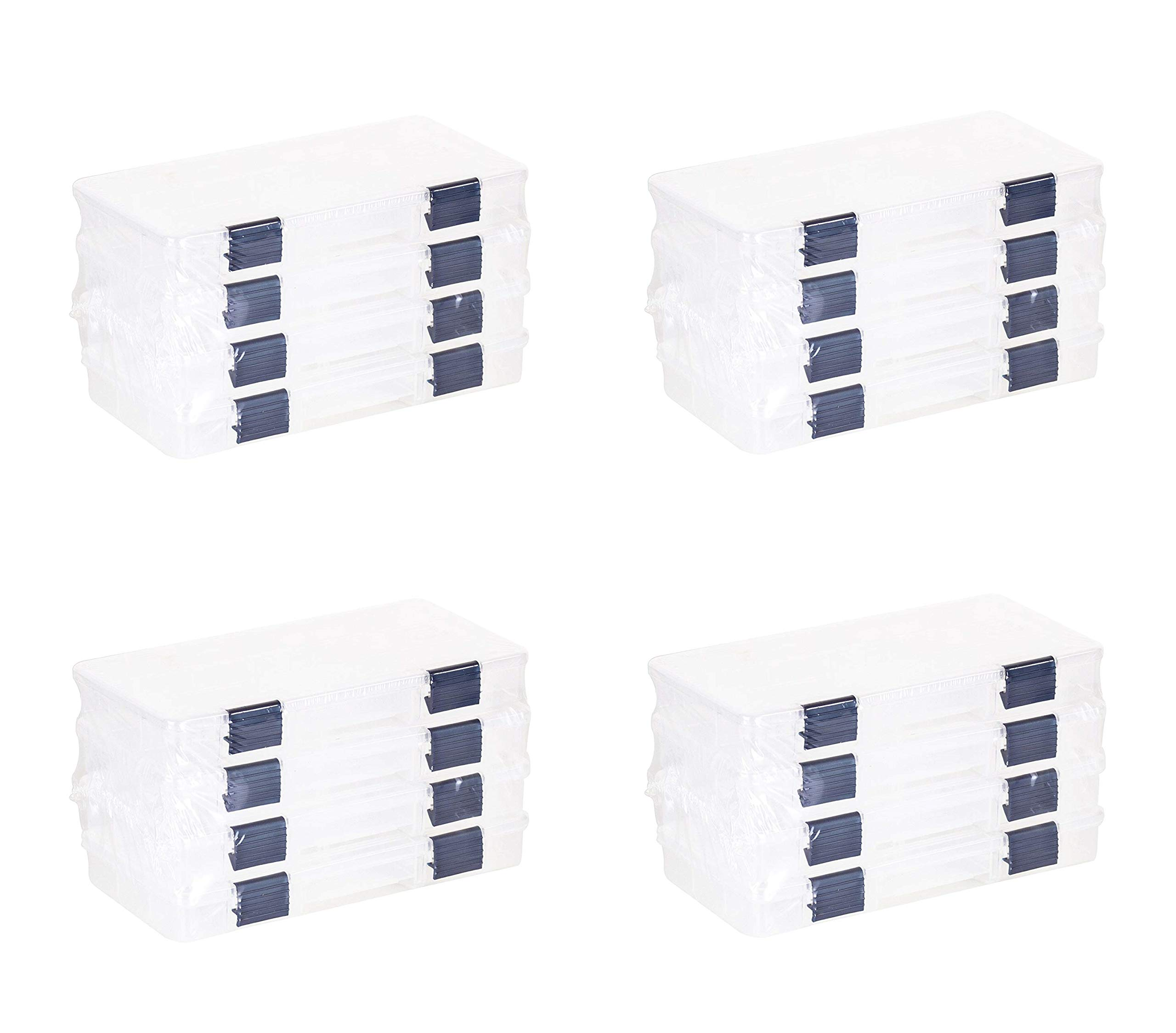 Plano Tackle Boxes,4 Pack of 3500 Prolatch Stowaway Tackle Utility Boxes, Fishing Tackle Storage (4 X Pack of 4)