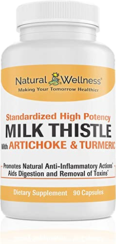 Natural Wellness Milk Thistle with Artichoke Turmeric – 30 Day Supply