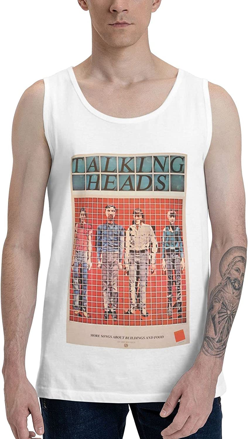Talking Heads More Songs About Buildings and Food Tank Top Man's Cotton Sleeveless Round Neck T Shirt Vest