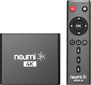 NEUMI Atom 4K Ultra-HD Digital Media Player for USB Drives and SD Cards - with HDMI and Analog AV, Automatic Playback and Looping Capability