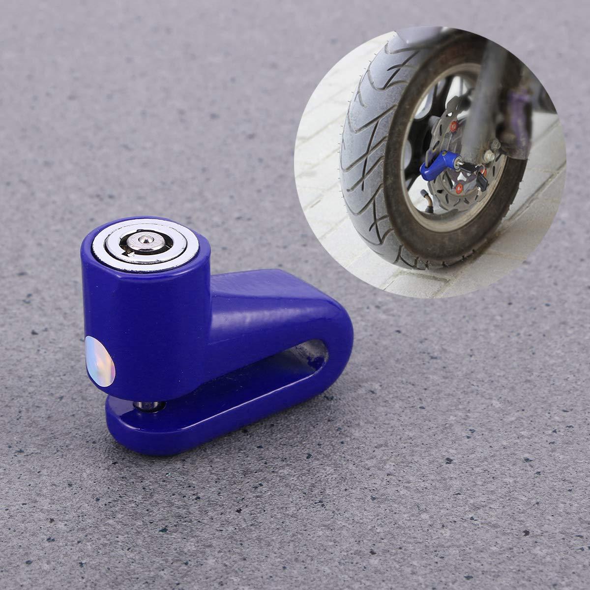 Blu LIOOBO Alta Sicurezza Moto Blocco antifurto Bici Bicicletta Moto Freno a Disco Protezione furto per Scooter Moto