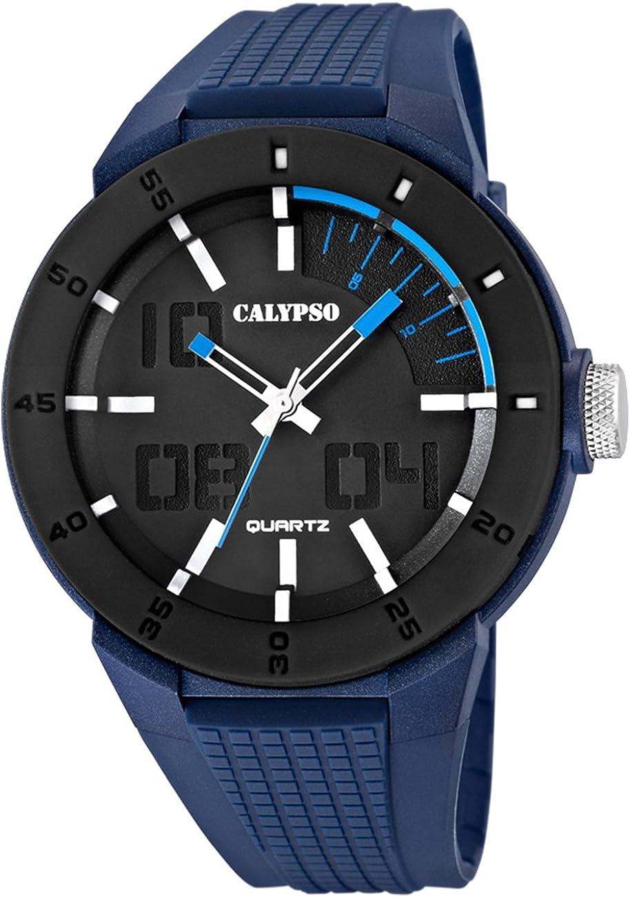 Calypso Reloj de Hombre PVD Negro–Azul Analógico Relojes Colección d1uk5629/3