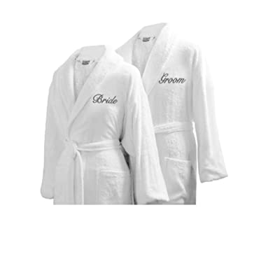 Luxor Linens Couple's Terry Cloth Bathrobe Egyptian Cotton Unisex Luxurious Soft Plush Elegant San Marco