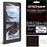 """[2 Pack] TECHGEAR® Amazon Fire 7"""" & Fire Kids Edition 7"""" (5th Generation / 2015 Release) Premium MATTE / ANTI GLARE Screen Protector Covers With Cleaning Cloth + Application Card (NOT for ALL New 7th Generation / 2017 Release Fire 7"""" tablet!)"""