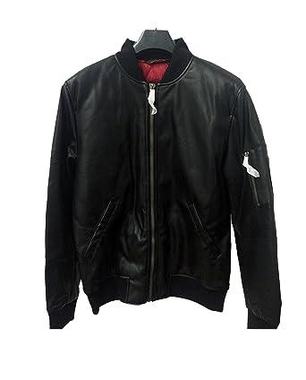 Zara hombres chaqueta de Bomber de piel sintética para 0706 ...