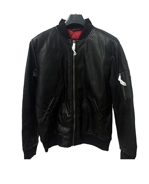 3c89dc0b05f08 Zara hombres chaqueta de Bomber de piel sintética para 0706 310  Amazon.es   Ropa y accesorios