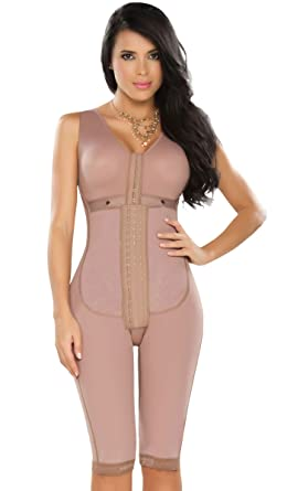 Fajas Dprada 11052 Colombian Full Body Shapewear for Women Postsurgical Girdle,Cocoa,XXX-