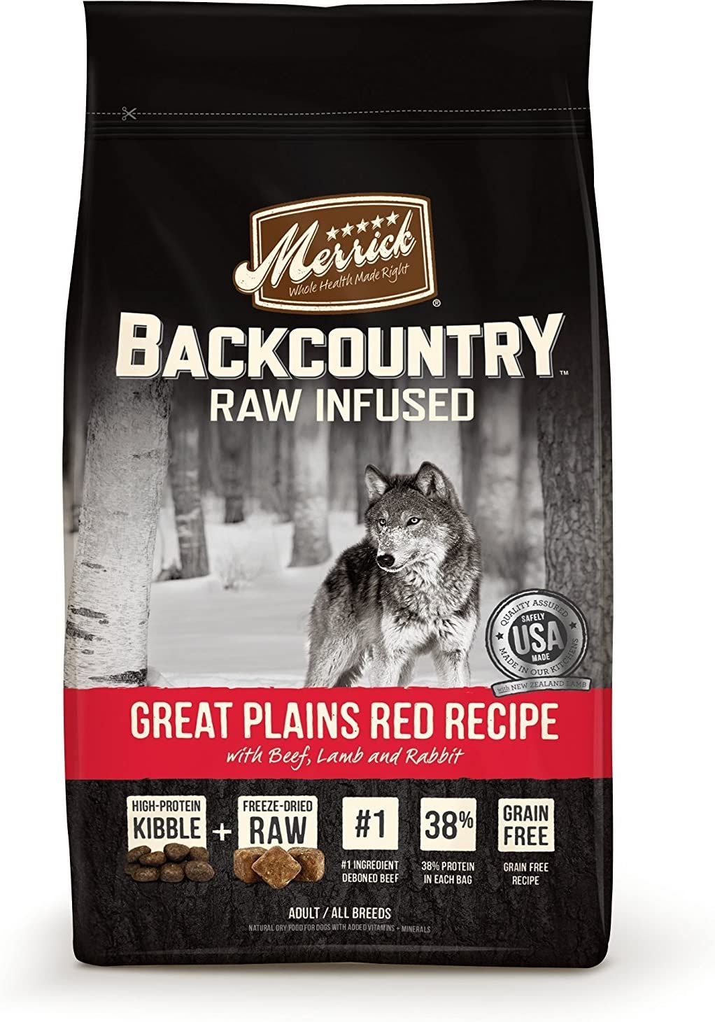 Merrick Backcountry Raw Infused Great Plains Red Meat Dry Dog Food