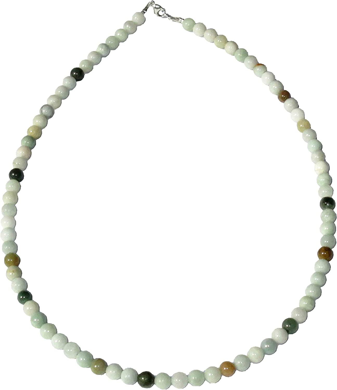 Collar Jade 42cm - Bolas de Piedra 6mm - Cierre de Oro