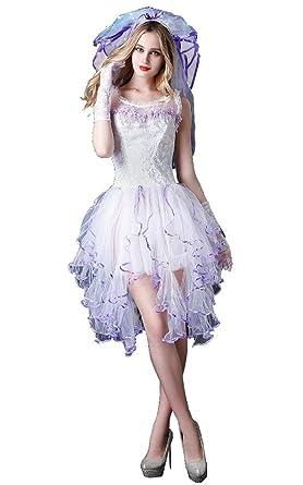 Amazon.com: jj-gogo Sexy ropa interior blanco novia boda ...