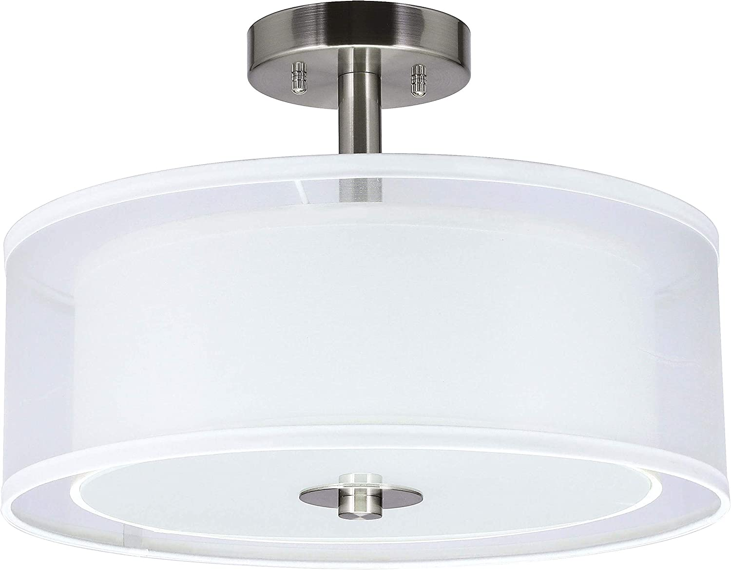 Flush Mount Ceiling Lights Bronze Frosted Glass Shade Light 10 in 6 Pack New