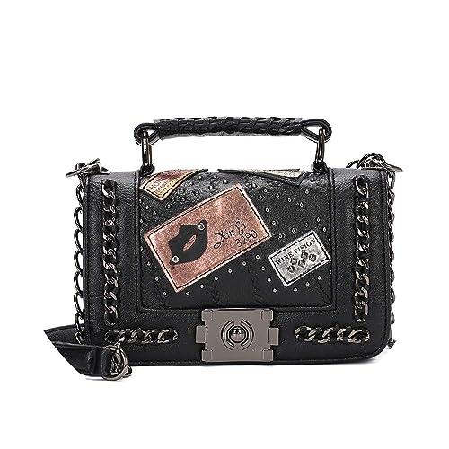 Amazon.com: Bolso bandolera vintage para mujer, bolsa ...