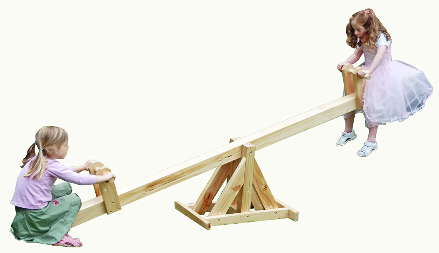 Garden Games Limited Traditional Pine Wood Garden See Saw