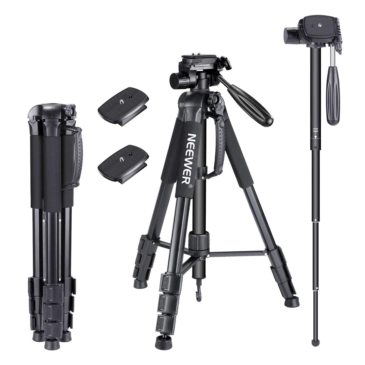 Neewer 70inches/177centimeters Aluminium Camera TriPod...