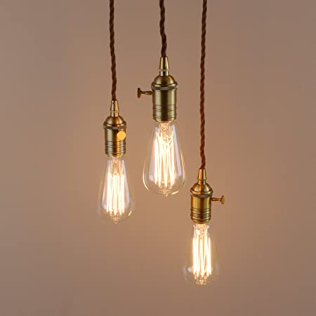 Pathson industrial modern 3 pendant lights fitting vintage edison pathson industrial modern 3 pendant lights fitting vintage edison hanging ceiling lamps for kitchen bedroom aloadofball Choice Image