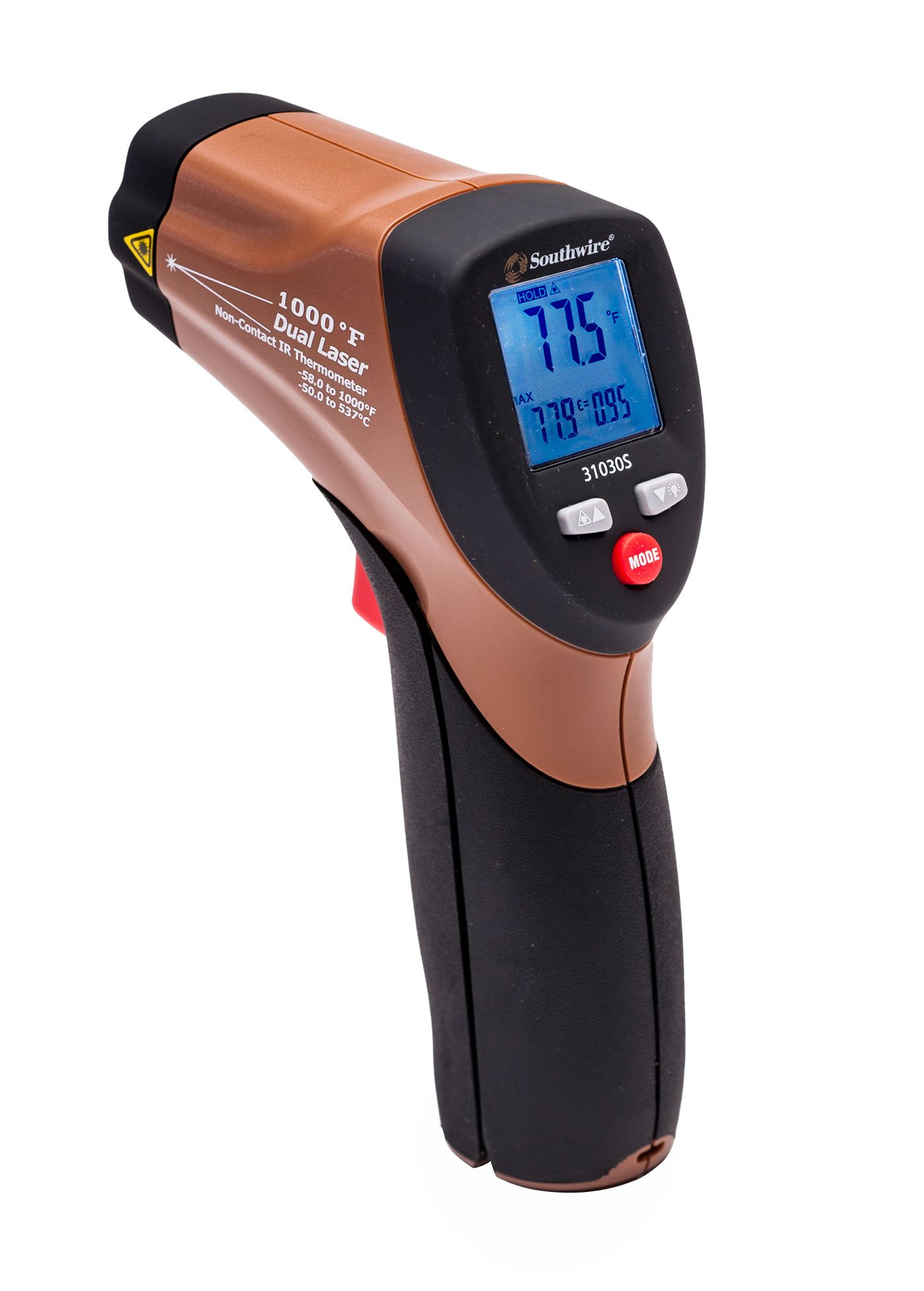 Southwire Tools & Equipment 31030S 1000°F Non Contact Digital Infrared Thermometer with Dual Lasers by Southwire