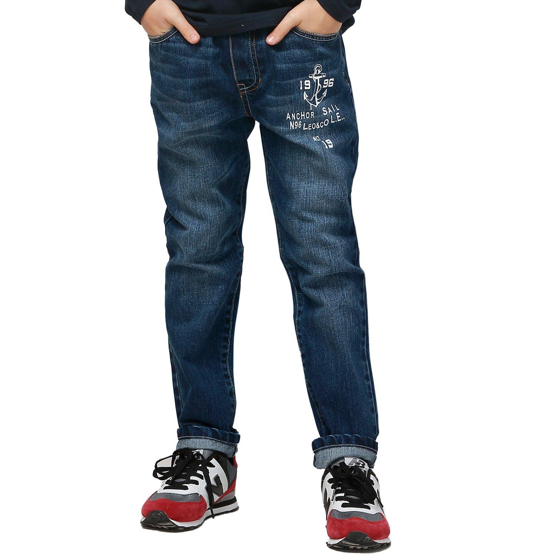 Leo&Lily Boys' Husky Waist Regular Fit Thin Jeans Pants Trousers (12)