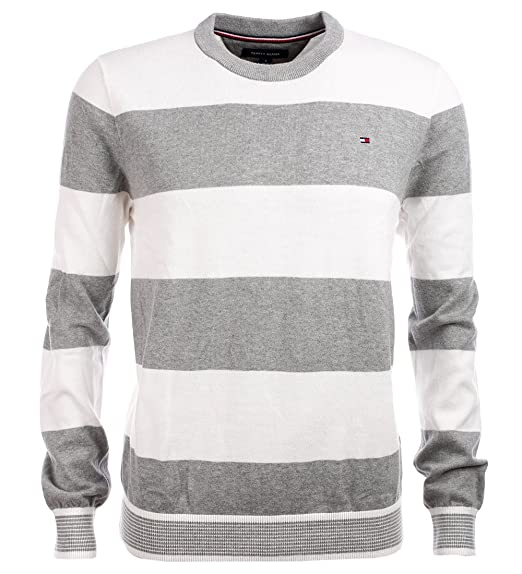 Tommy Hilfiger Mens Striped Crewneck Sweater At Amazon Mens