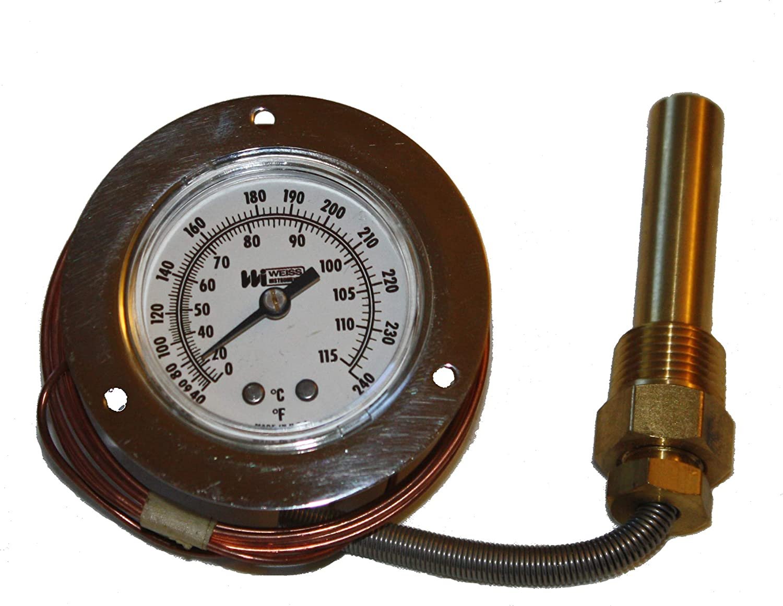 Weiss Vapor Thermometer 40-240 Fahrenheit 0-115 Celsius