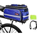 Arltb Bike Rear Bag (3 Colors) 15-25L Waterproof Bicycle Trunk Bag Rain Cover Shoulder Strap Bike Pannier Tail Back Seat Bag Package Handbag Bike Accessories Road Bikes Mountain