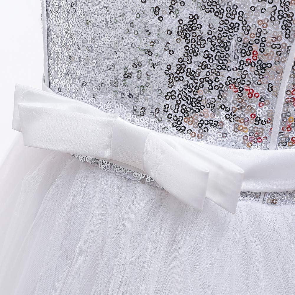 TTYAOVO Filles Longueur Au Sol Dentelle Robe de Princesse de Mariage de Couches Puffy Tulle Robes