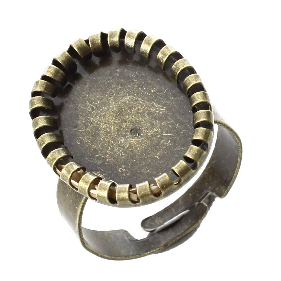 SODIAL(R) 10X 22X18mm anneau sertissage dentelle pour l'artisanat Bronze TOP 023775