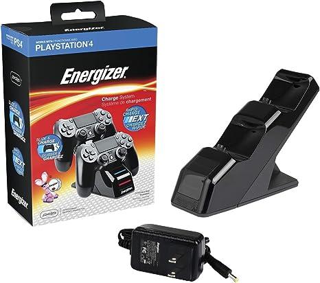 PDP - Cargador Energizer 2 Mandos (PS4): Amazon.es: Videojuegos