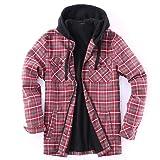 Golden Tree Men Full Zip Hoodie Flannel Jacket