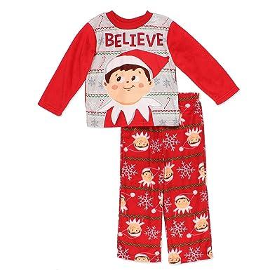 ebd81dee98 Amazon.com  Elf on The Shelf Boys Christmas Fleece Pajamas (6 ...