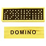 CHILDREN'S WOODEN BOXED DOMINOES SET [Toy]