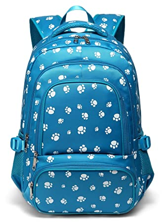 74007fcdf52e Waterproof Girls Bookbags for Kids Boys Elementary School Bags Backpack for  Students (Blue)