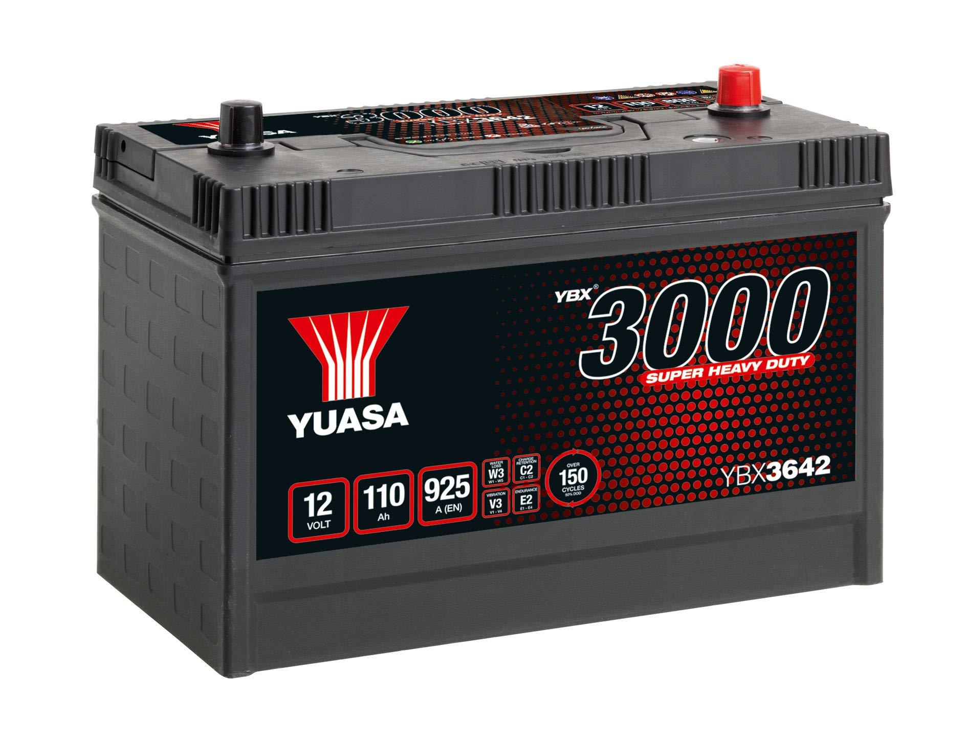 Yuasa YBX3642-110 12V 110Ah 925A Super Heavy Duty SMF Commercial Vehicle Battery