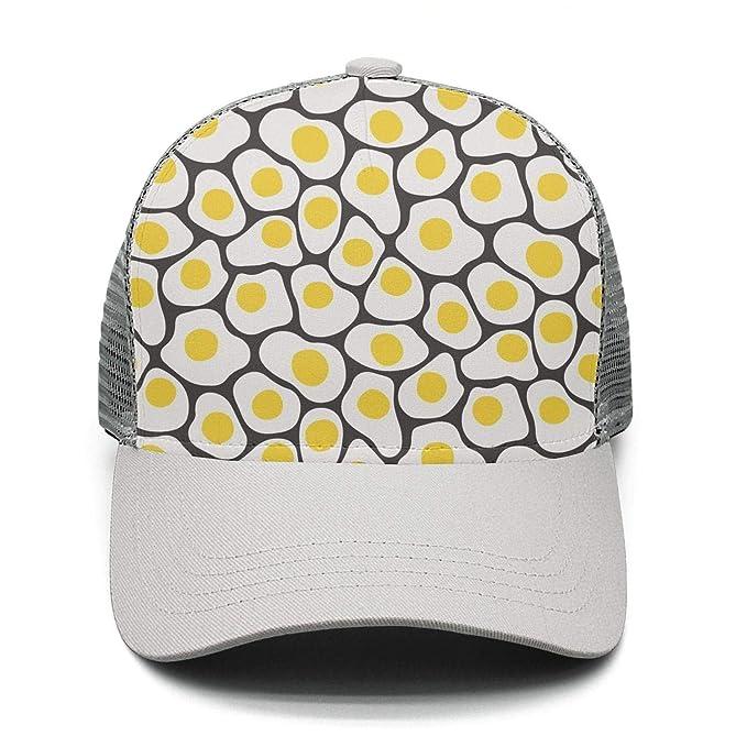 black fried egg food Cool Design fashion plain sports baseball hat Caps  Snapback For Men women 30b91d99b45d