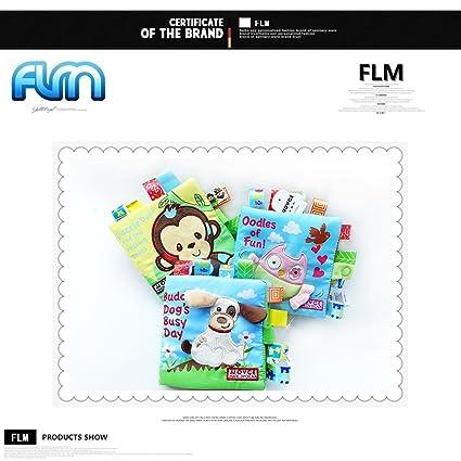 FLM - Juego de 3 Bebés Juguetes Peluche Libro Blando de Paño 3D de ...