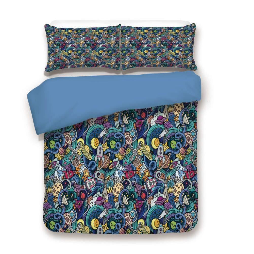 掛け布団カバーセット 装飾寝具3点セット 枕カバー2枚付き マルチカラー キング BD2-358-17711C12-264*228 B07Q7NSDM8 色#12 キング
