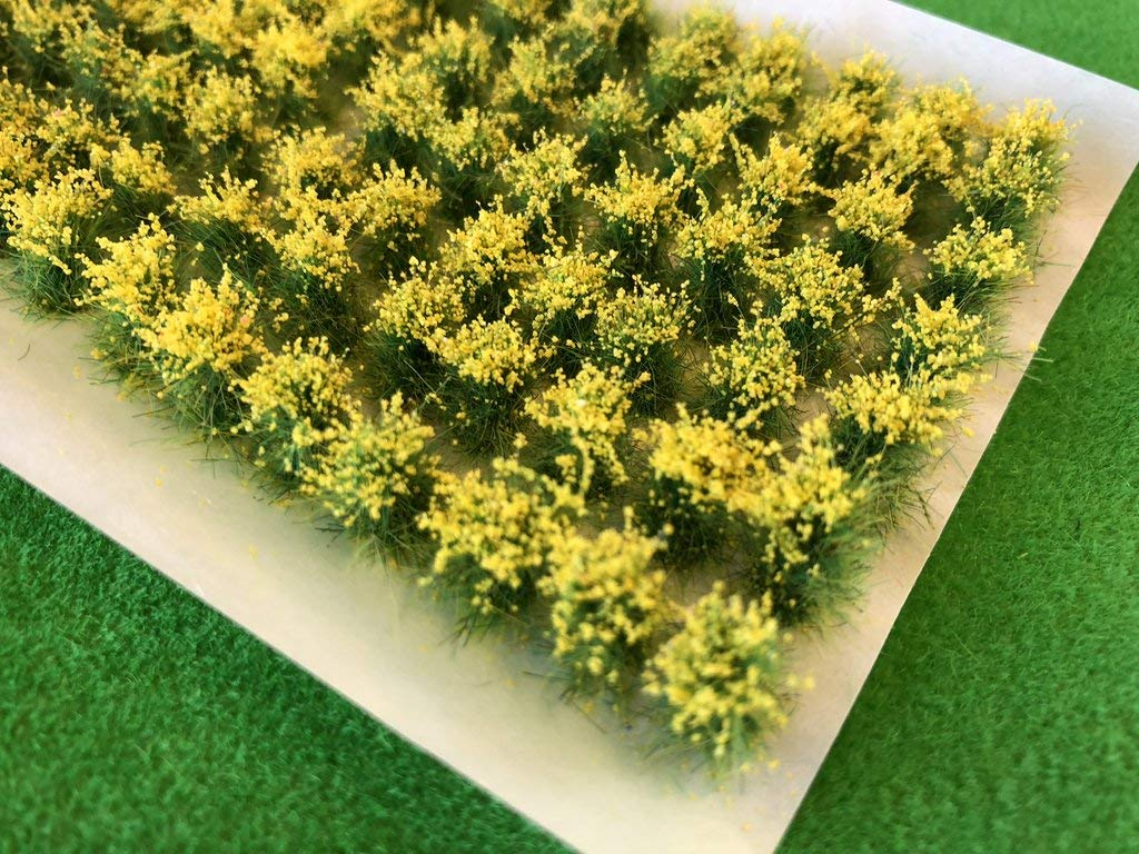 Yellow Spring Wild Flowers 10-12mm Tall Grass Tufts Serious-Play