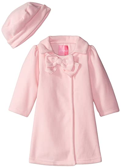 fbcd15da8966 Amazon.com  Good Lad Pink Fleece Coat Big Bow Matching Hat  Clothing