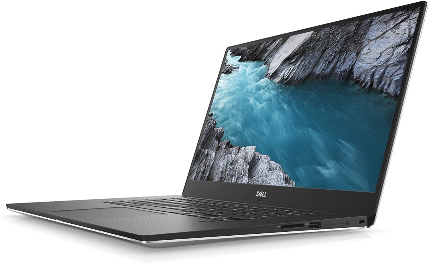 Dell XPS 9570, 15.6in UHD (3840 x 2160) InfinityEdge Touch Display, 8th Gen Intel Core i7-8750H, 32GB RAM, 1TB SSD, GeForce GTX 1050Ti, Fingerprint Reader, Windows 10 Pro, Silver (Renewed)
