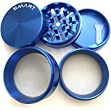 "SMART CRUSHER PREMIUM Quality LARGE Five Piece 5PCS 2.5"" (63mm) 2 1/2 "" Aluminum Magnetic Herb Pollen Herb Grinder"