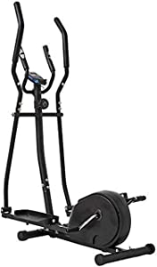 Equipment Home Gym Elliptical Cross Trainer Elliptical Machine Cross Trainer 2 in 1 Exercise Bike Cardio Fitness Home Gym Equipmen Indoor Home Fitness Cardio Workout Machine(Color:Black,Size:156x80x47