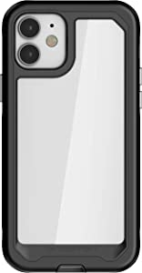 Ghostek Atomic Slim Compatible with iPhone 12 Case and iPhone 12 Pro Case (6.1 Inch) with Super Tough Protective Lightweight Aluminum Bumper iPhone12 5G and iPhone 12Pro 5G (2020) (Black)