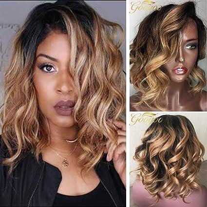 Googoo 7A Peluca de cabello virgen, natural, peluca brasileña, extensiones de