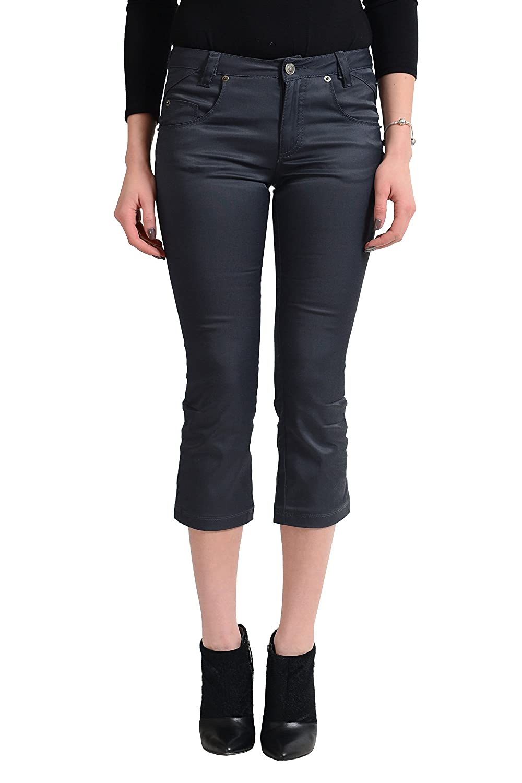 Versace Jean's Couture Women's Dark Gray Capri Jeans US 26 IT 40