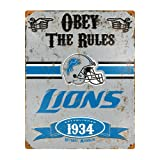 "Party Animal NFL Embossed Metal Pub Sign, 14.5"" x"