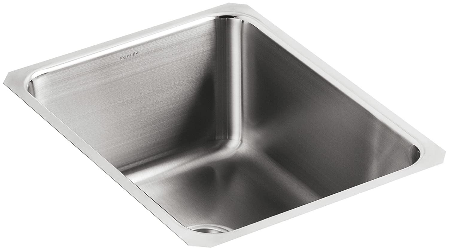 Kohler k 3163 na undertone squared single basin undercounter kitchen kohler k 3163 na undertone squared single basin undercounter kitchen sink 9 12 deep stainless steel single bowl sinks amazon workwithnaturefo