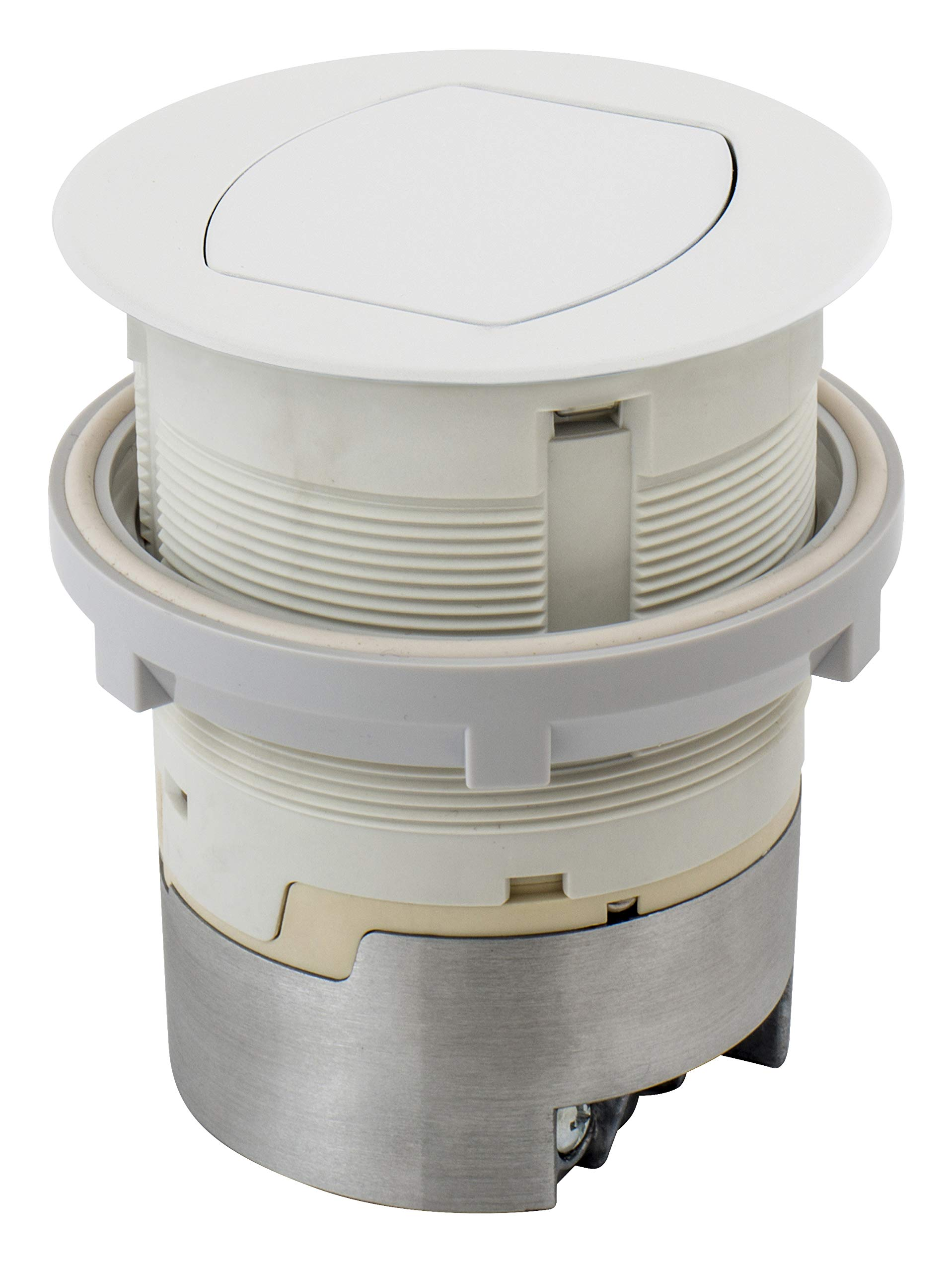 Bryant Electric RCT201W Pop, Countertop Receptacle, White